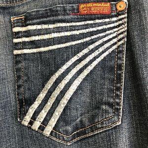 7FAM Dojo Jeans Size 24